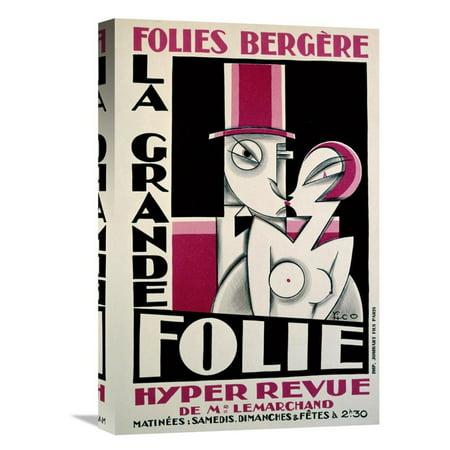 Global Gallery Folies Bergere   La Grande Folie Canvas Wall Art