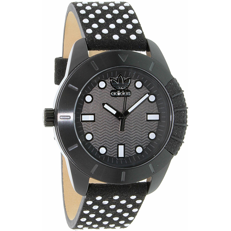 Adidas Women's ADH3053 Black Leather Quartz Fashion Watch by Adidas