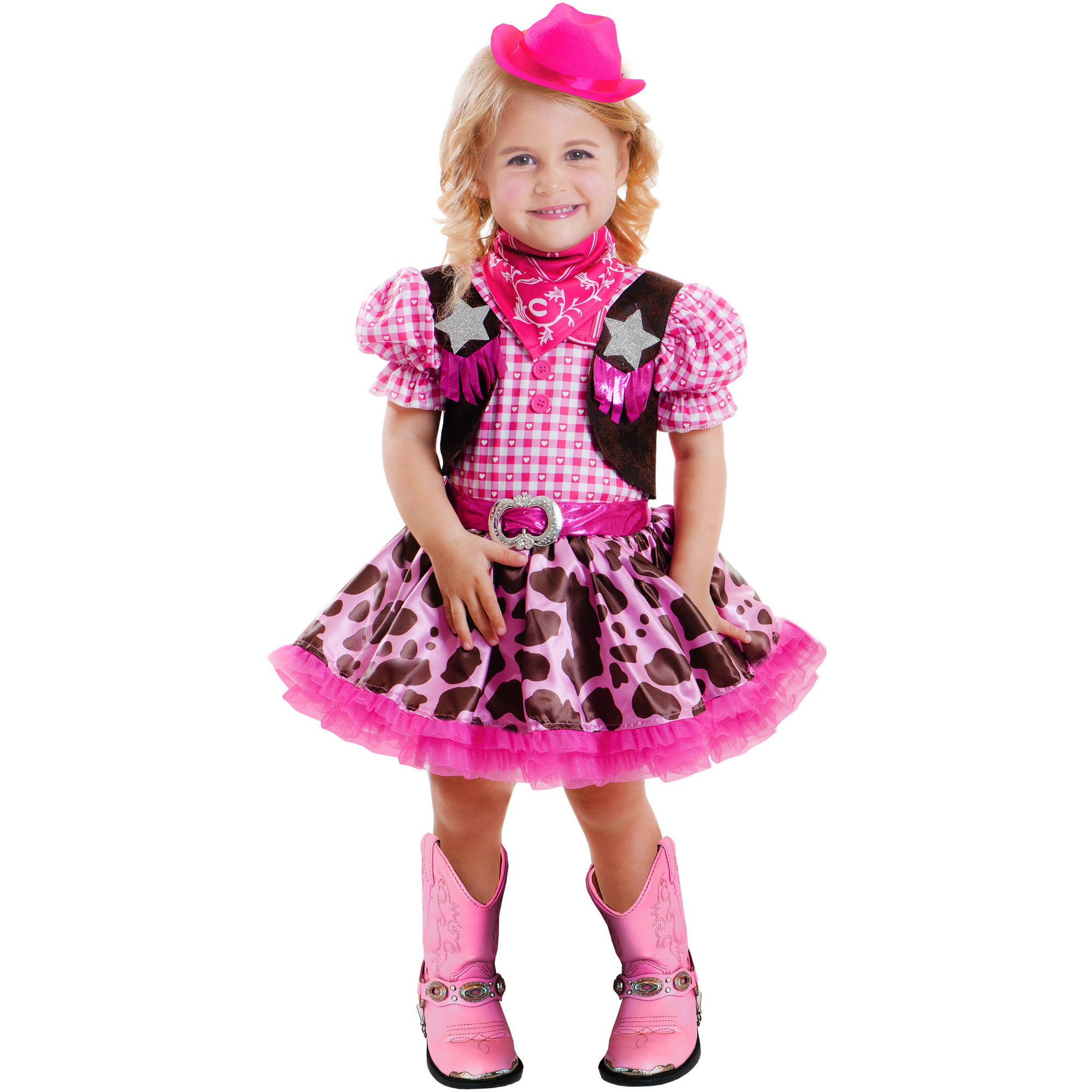 halloween costume cowgirl princess girl toddler 2t size pretend