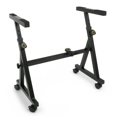 Plixio Piano Keyboard Stand - Z Style Fully Adjustable and Portable Music Stand (With Wheels) ()