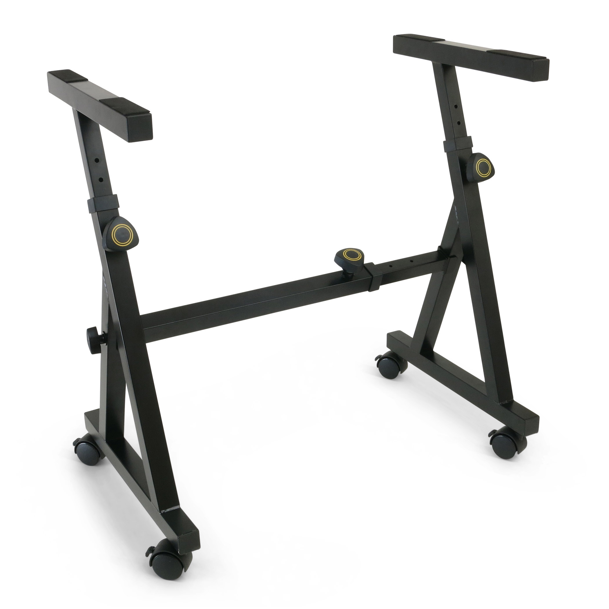 Plixio Piano Keyboard Stand - Z Style Fully Adjustable and Portable Music Stand (With Wheels)