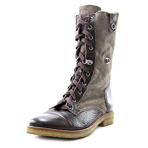 Diane Von Furstenberg Women's Alexia Combat Boots with Sh...