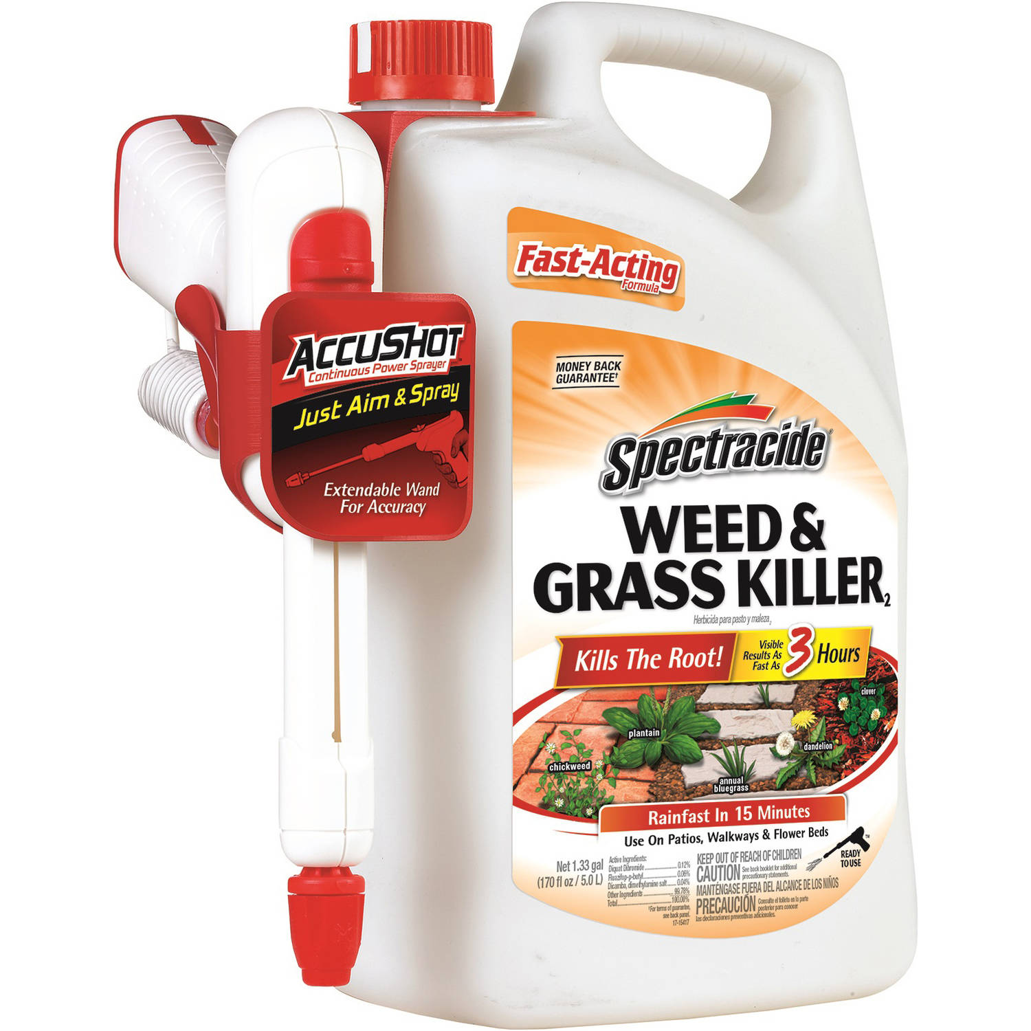 Spectracide Weed and Grass Killer with AccuShot Continuous Power Sprayer