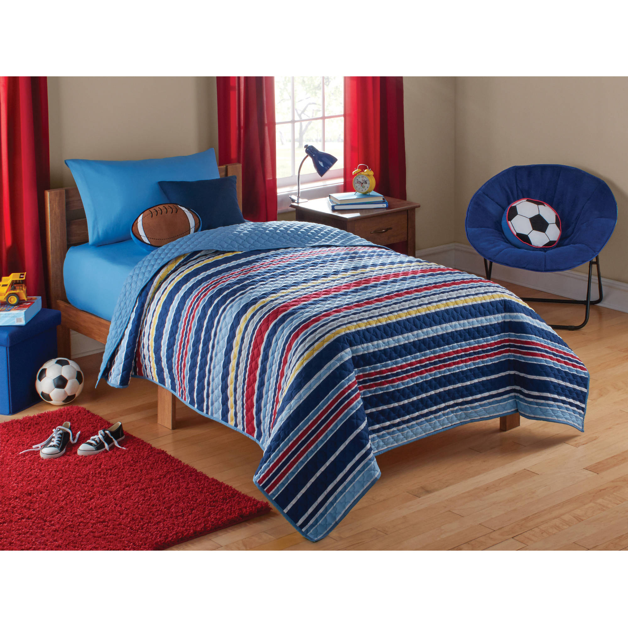 Mainstays Kids Boy Stripe Quilt Walmart Com