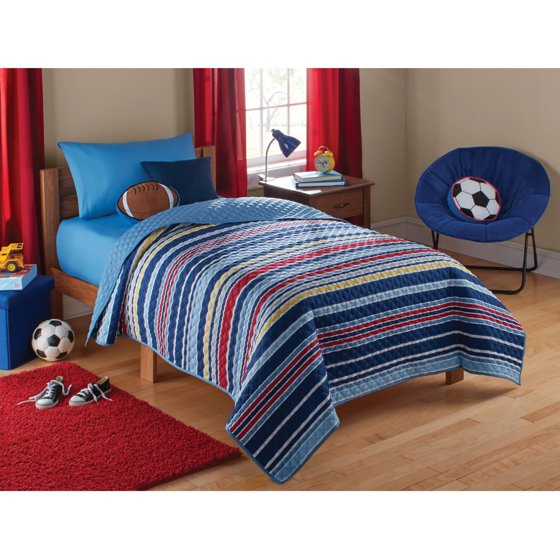 Mainstays Kids Boy Stripe Quilt - Walmart.com : kids quilt - Adamdwight.com