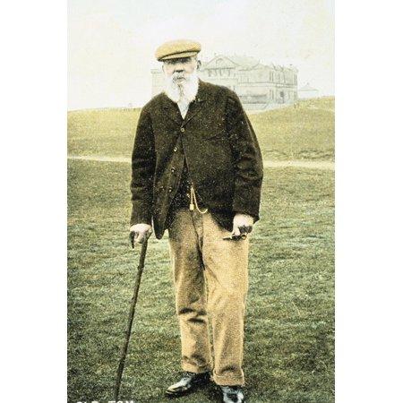 Old Tom Morris, Scottish golfer, postcard, 1900 Print Wall