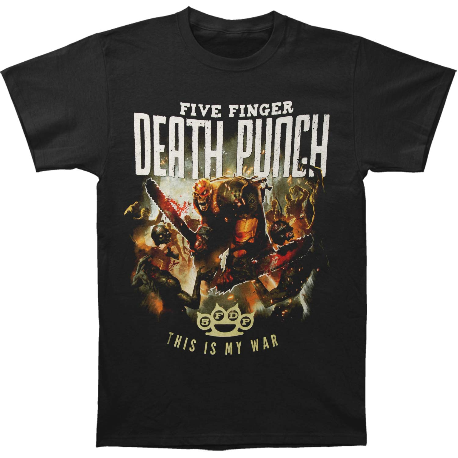 Five Finger Death Punch Men's  This Is My War T-shirt Black