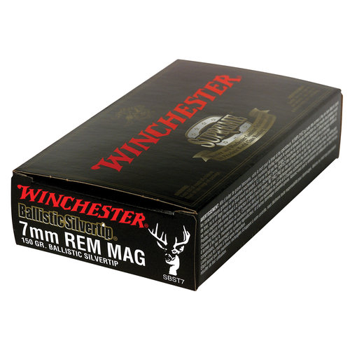 Winchester 7mm Remington Magnum 150 Grain Supreme Ballistic Bullets