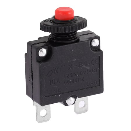 AC 125/250V 10A 2 Terminals Circuit Breaker Toggle Switch Protector - image 3 de 3