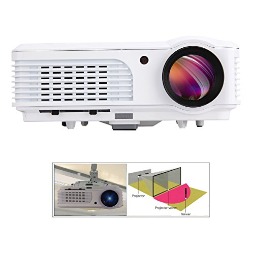 EUG 5 tft 1080p 2800 Lumens Portable Video Projector 1280x720 Hd Home Entertainment LED LCD Media Projector Hdmi USB VGA