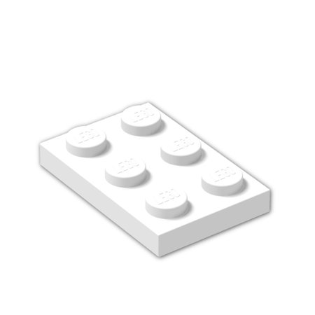 Brick Building Sets Original LEGO® Parts: Plate 2 x 3 #3021 (Pack of 8) (White) Brown Round Serving Plate