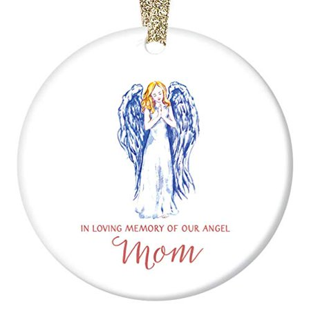In Loving Memory of Mom Ornament, Mother Memorial Angel Christmas Ornament, 3