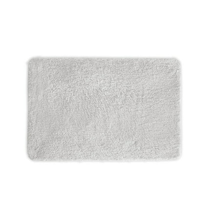 Mary Bathroom Rug, Luxury Soft Plush Shaggy Thick Fluffy Microfiber Bath Mat, Non-slip Rubber Back, Floor Mat Water Absorbent 17x24 Inch White