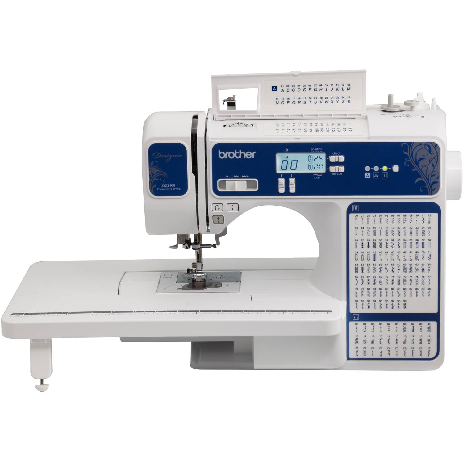 Designio Series  by Brother DZ2400 185-Stitch Computerized Sewing & Quilting Machine