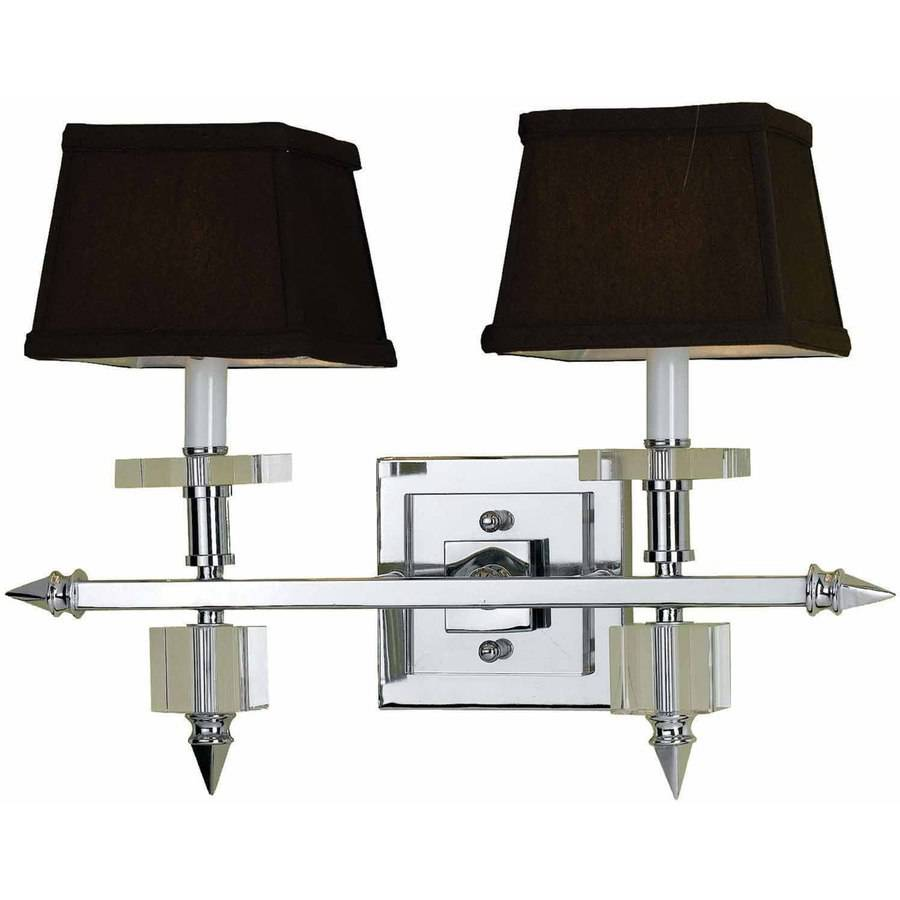 AF Lighting Cluny 2-Light Vanity Sconce with Brown Shades
