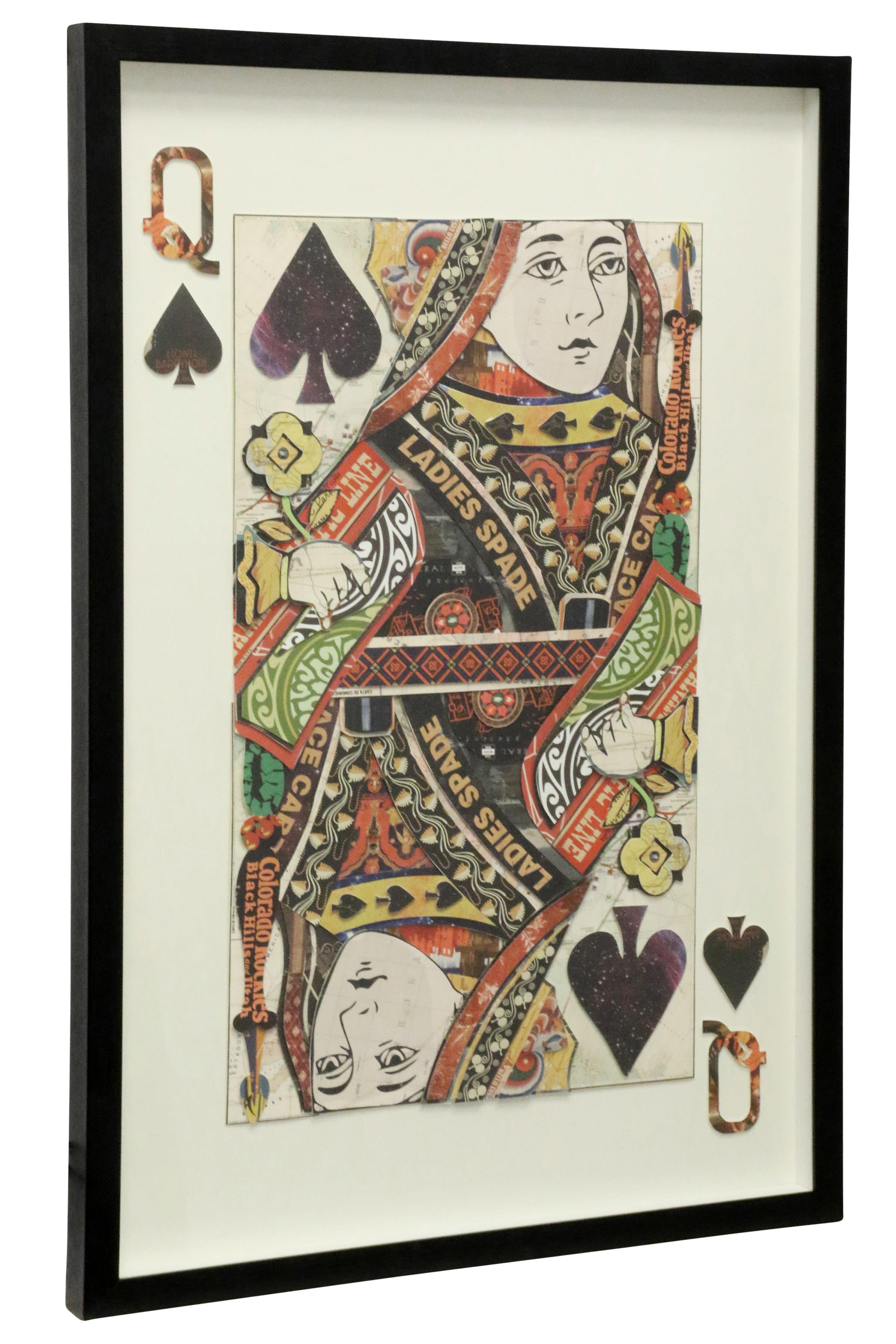 Queen Of Spades Multi Level Framed Wall Artwork by Stylecraft