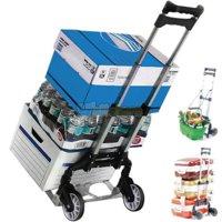 Ktaxon Portable Aluminium Rolling Folding Luggage Dolly Push Truck Cart