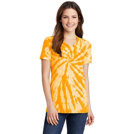 - Port & Company Ladies Tie-Dye V-Neck Tee