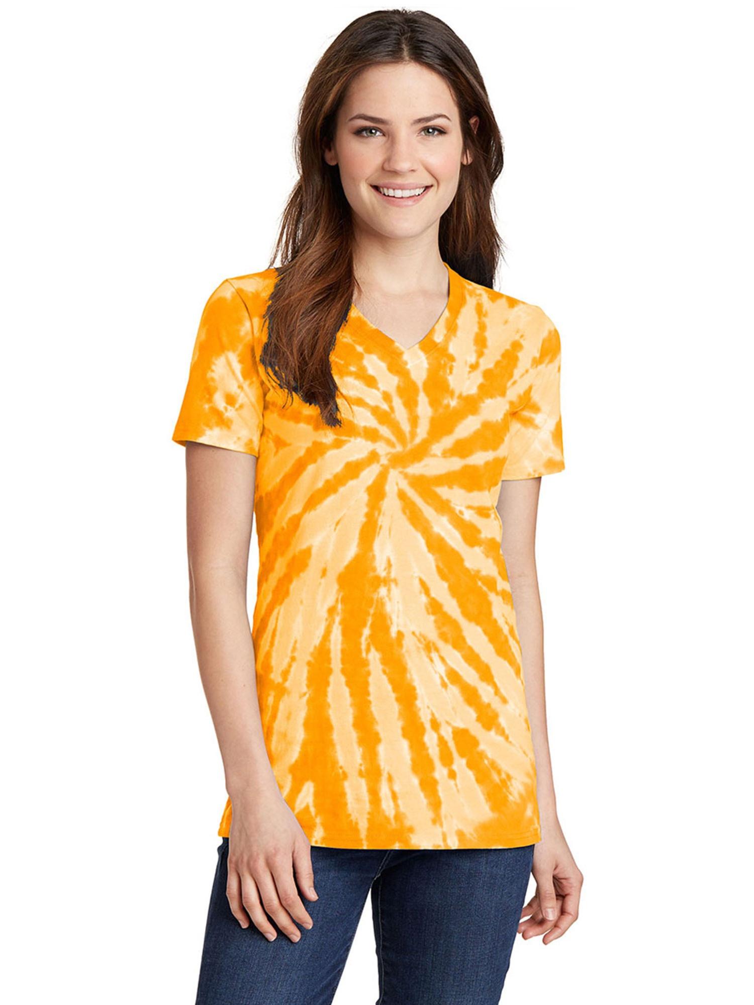 Port & Company Ladies Tie-Dye V-Neck Tee