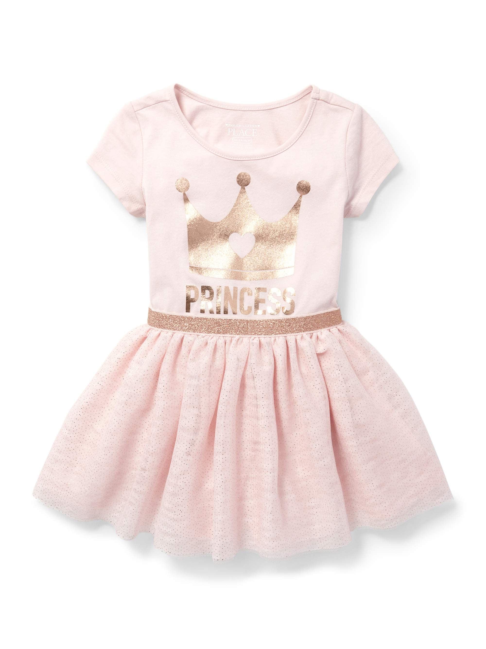 Knit to Woven Princess Dress (Baby Girls & Toddler Girls)