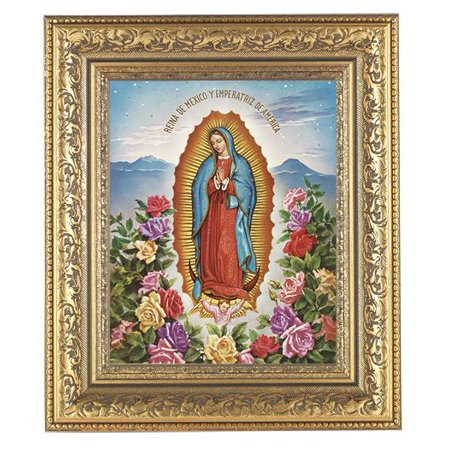 Our Lady Of Guadalupe In Antique Gold Frame Walmartcom