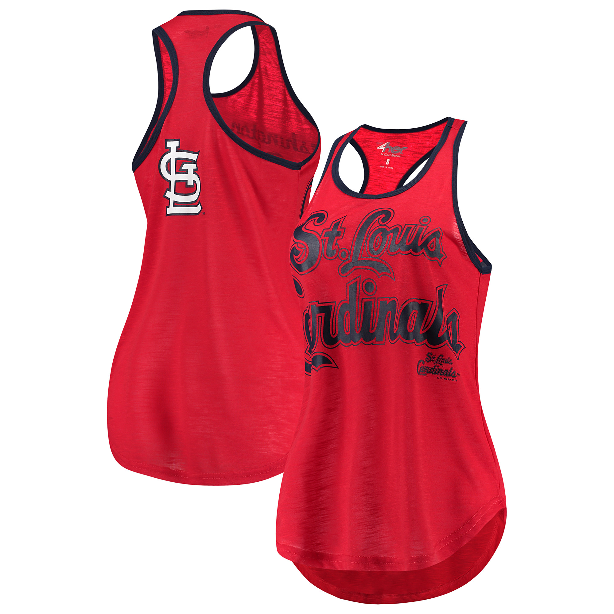 St. Louis Cardinals G-III 4Her by Carl Banks Women's Game Time Tank Top - Red/Navy