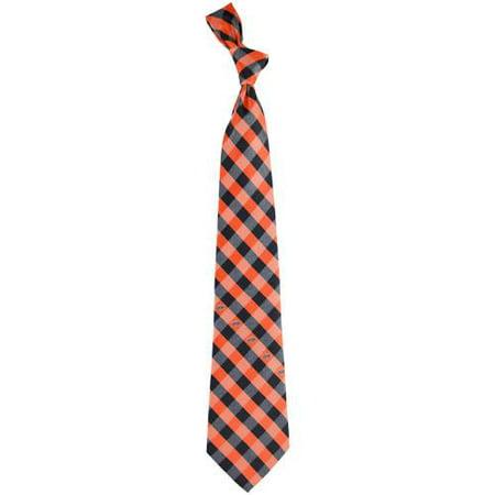 Oklahoma State Cowboys Woven Checkered Tie - Orange/Black - No Size