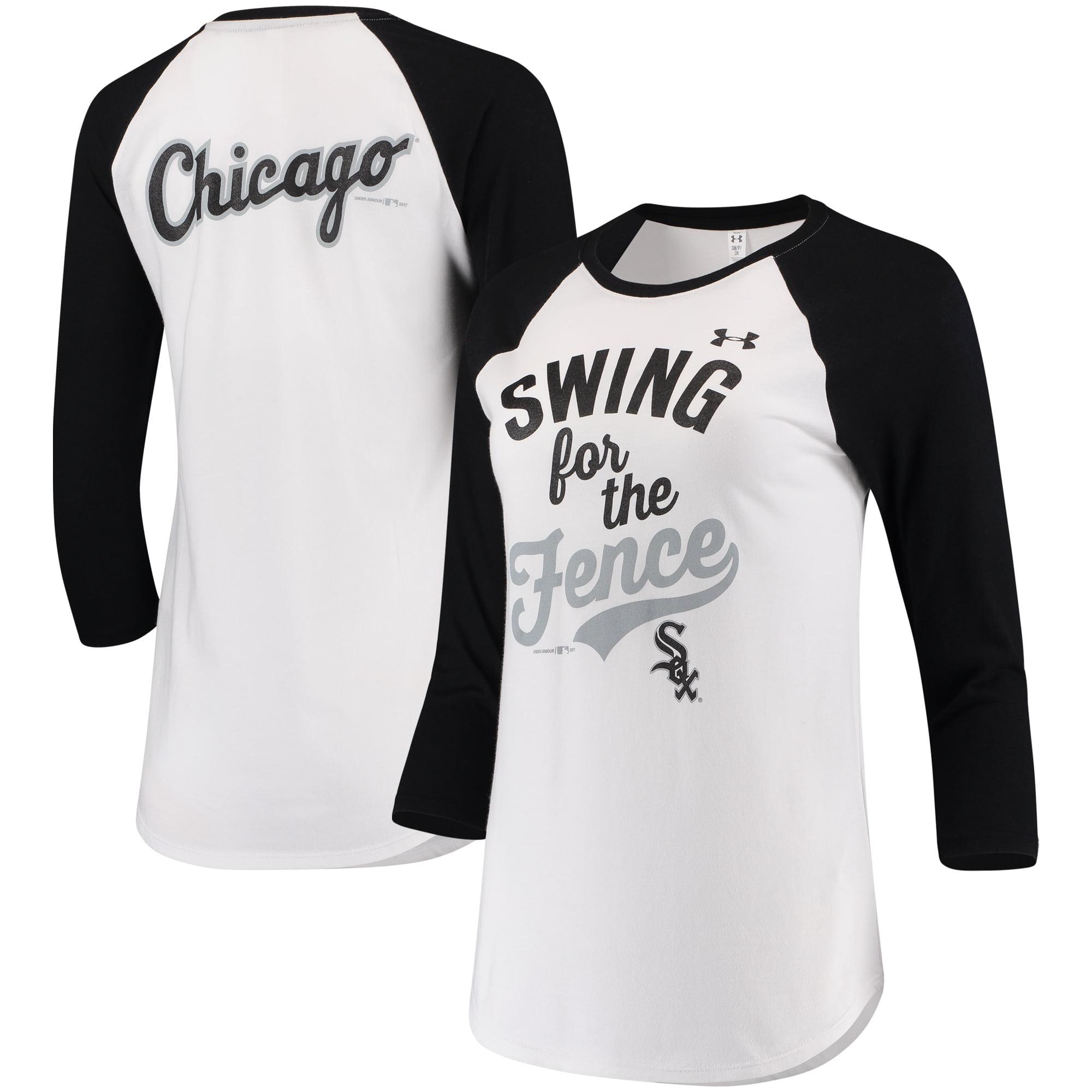 Chicago White Sox Under Armour Women's Baseball 3/4-Sleeve T-Shirt - White