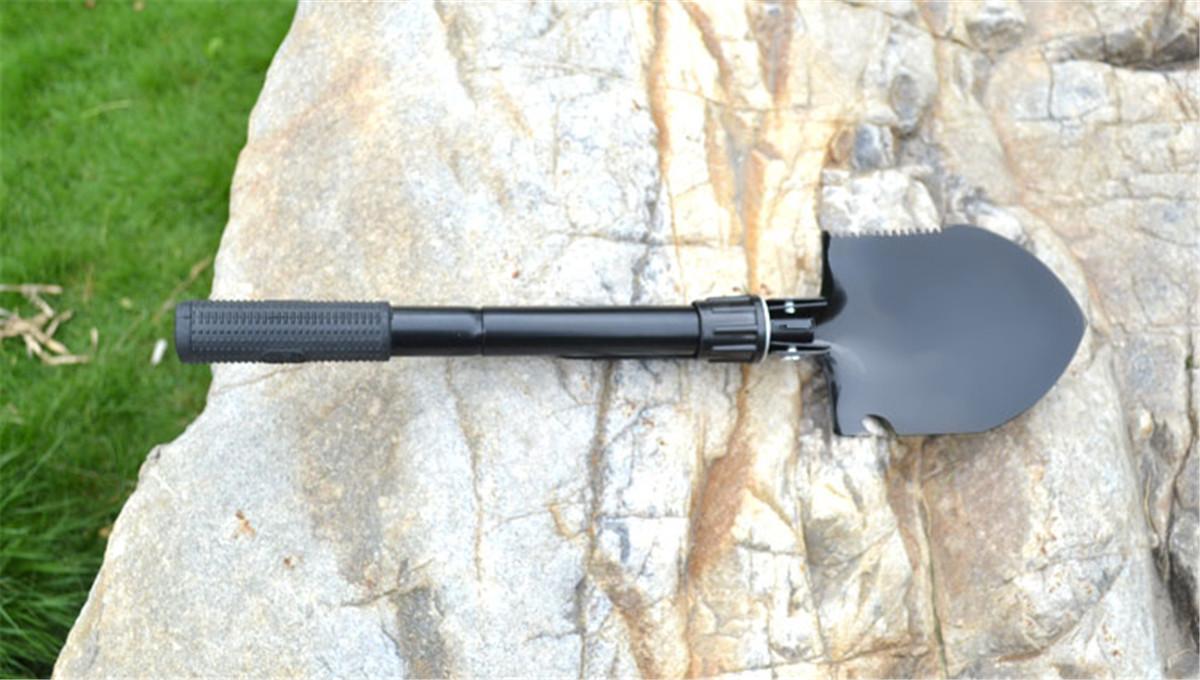 Mini Multi-functional Metal Dedector Camping Folding Shovel by