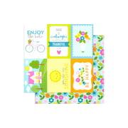 Doodlebug Spring Garden Paper 12x12 Garden Girl (pack of 25)