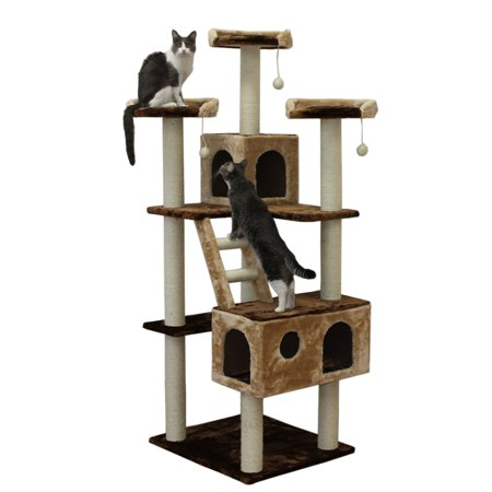 Kitty Mansions Beverly Hills 73 in. Cat Tree (Cat Mansion)