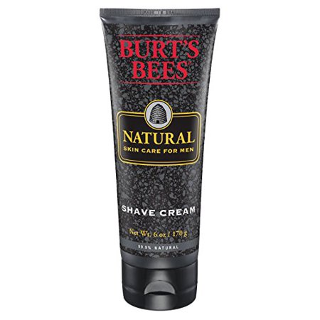 Men Care Natural - 6 Pack - Burt's Bees Natural Skin Care for Men Shave Cream, 6 Oz Each