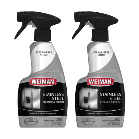 (2 pack) Weiman Stainless Steel Cleaner & Polish Spray, 12 (Polished Brass Five Spray)
