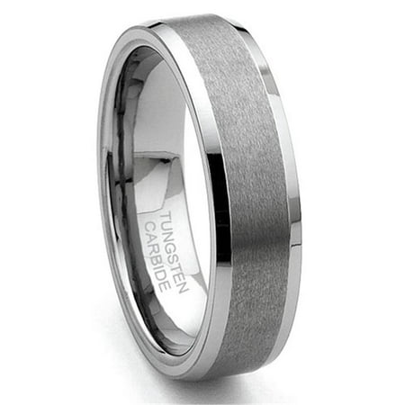6MM Tungsten Carbide Satin Men