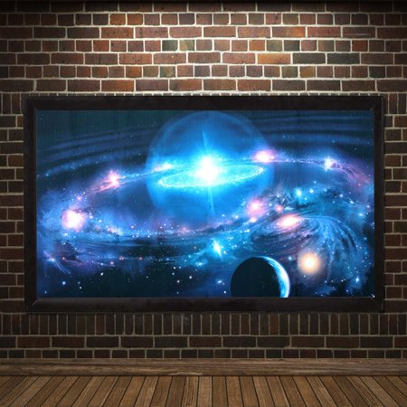 Grtsunsea 43 X 24 Mural Painting Andromeda Galaxy Stars Universe Space Silk Poster Paint Art Print Wall Hanging Home Decor Christmas Gift