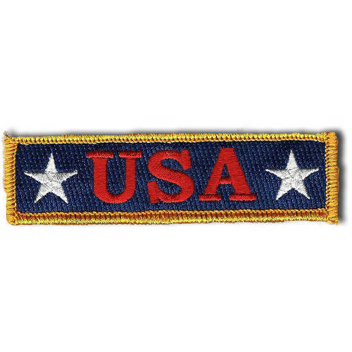 "U.S.A. Tactical Morale Patch, 1"" x 3.75"", Red, White and Blue"