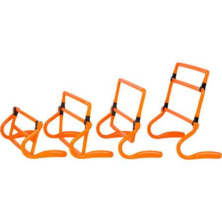 Set Of 5 Adjustable Speed Training Hurdles By Trademark Innovations  Orange