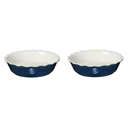 Emile Henry Twilight Ceramic 5.5 Inch Mini Pie Dish, Set of 2 - Emile Henry Slate Ceramic