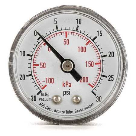 4FLZ3 Test Compound Gauge, 1-1/2 in. (Difference Between Compound Gauge And Pressure Gauge)