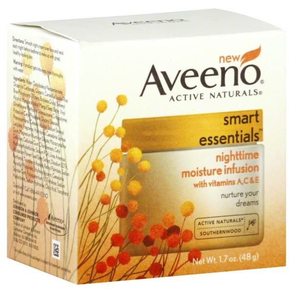 Johnson & Johnson Aveeno Active Naturals Smart Essentials Nighttime Moisture Infusion, 1.7 oz