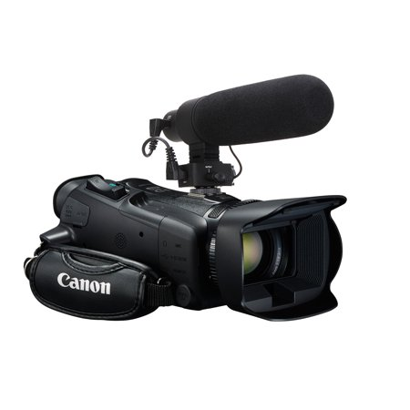 Canon VIXIA HF R600 Advanced Super Cardioid Microphone (Stereo/Shotgun) With Dead Cat Wind Muff (Includes Mounting Bracket) ()