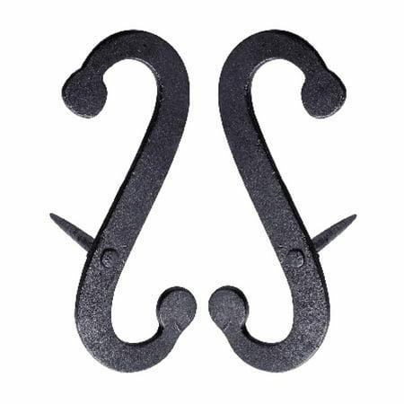 Hubbardton Forge Scroll (Pair Shutter Dog Scroll Black Hand Forged Iron Masonry | Renovators Supply )