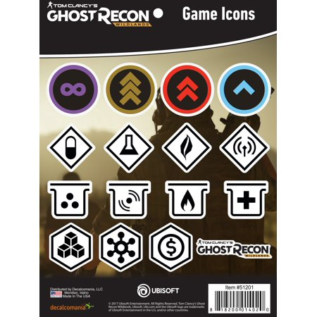 Tom Clancys Ghost Recon Wildlands Game Icons Stickers Decals For Macbook  Laptop  Vehicle Licensed By Ubisoft