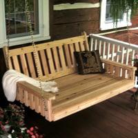 A & L Furniture Western Red Cedar Traditional English Cedar Swing Bed