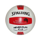 Spalding 72-070E King of The Beach Never Flat Red-White Volleyball