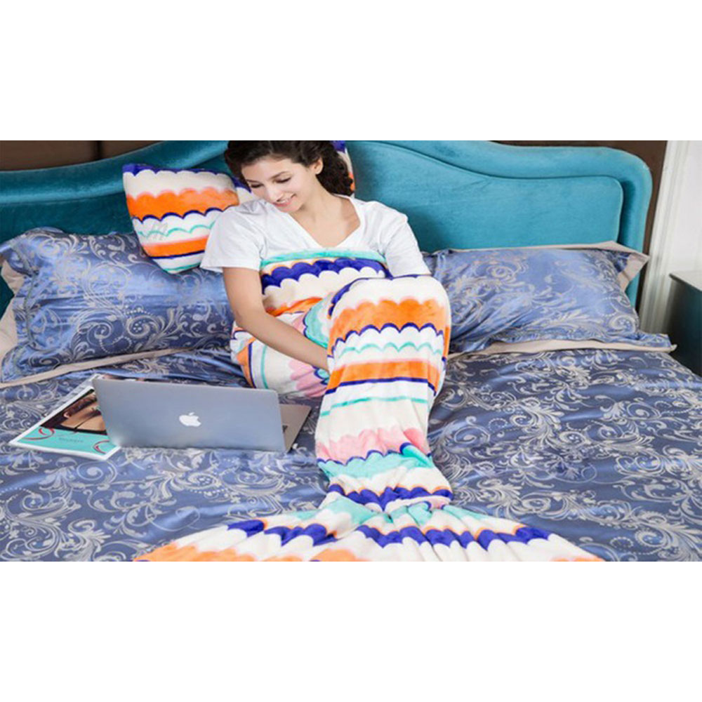 Mermaid Tail Blanket for Adults or Kids