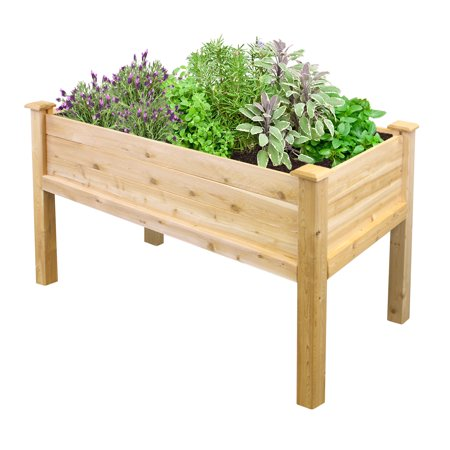 Greenes Fence 48 in. L x 24 in. W x 31 in. H Cedar Elevated Garden Bed
