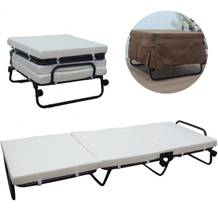 Magnificent Zimtown Folding Convertible Sofa Bed Ottoman Couch Mattress Lounge Bed Sleeper Casters White Camellatalisay Diy Chair Ideas Camellatalisaycom