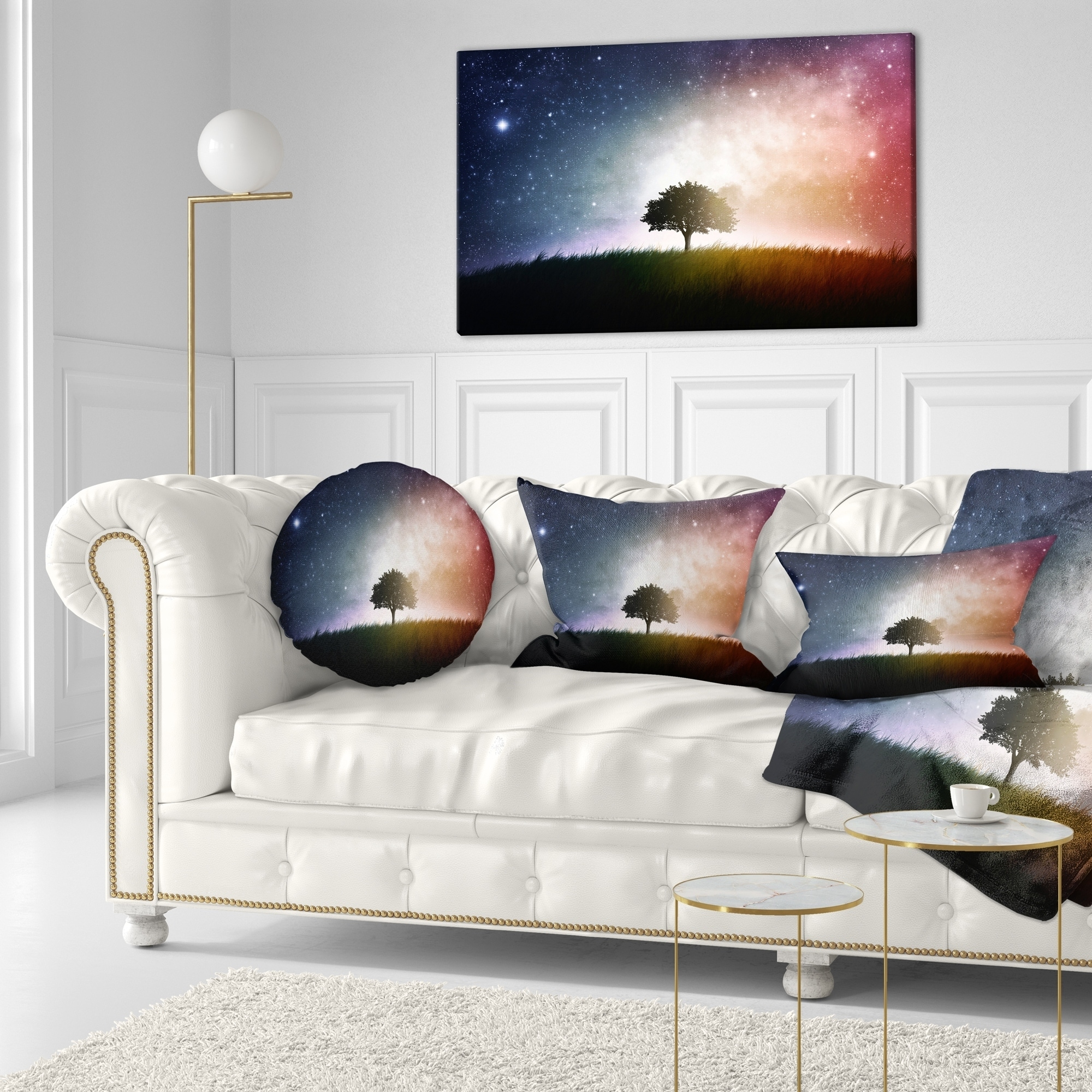 Designart CU14765-16-16 Single Space Background Trees Cushion Cover for Living Room Throw Pillow x 16 in, Sofa