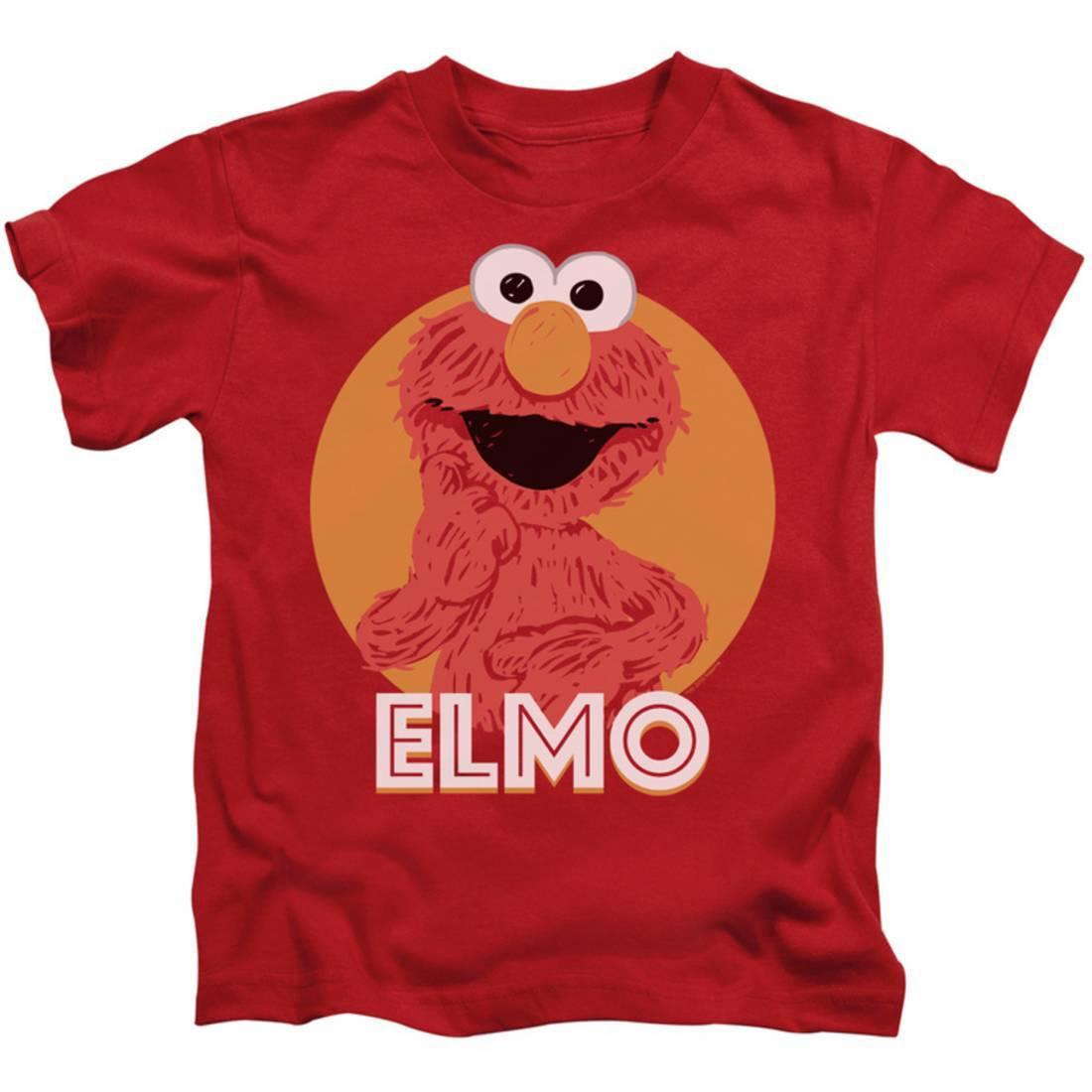Juvenile: Sesame Street- Smiley Elmo Apparel Kids T-Shirt - Red